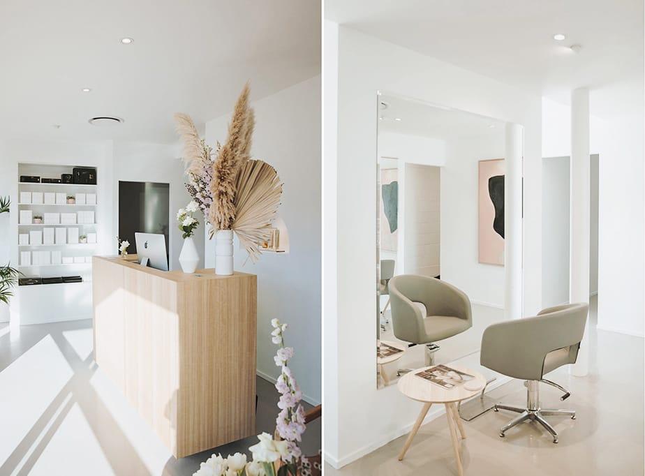 Brady Hair Salon.  Soft & Understated Minimalism Salon Design